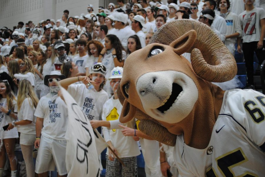 Seniors+get+ready+for+the+Pep+Rally+to+begin+during+Spirit+Week.+