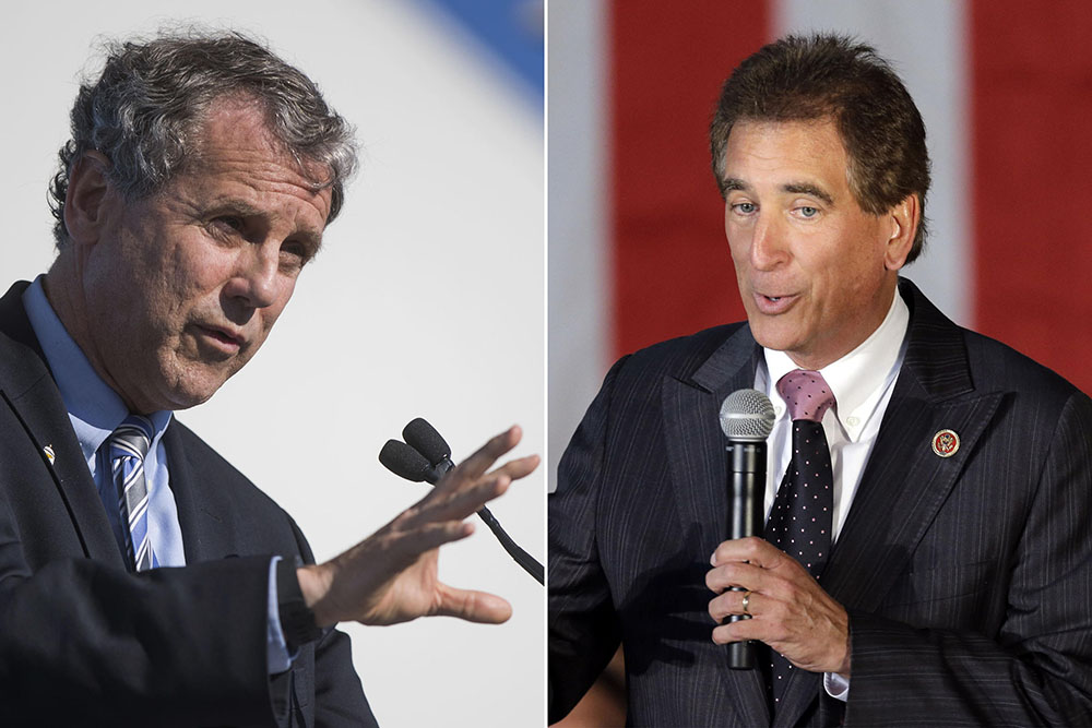Sen. Sherrod Brown, D-Ohio, (left) was criticized for his use of a misleading ad against his political opponent Republican U.S. Rep. Jim Renacci (right).