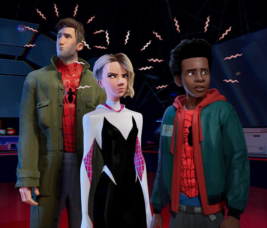 Peter+Parker%2C+Gwen+Stacy%2C+and+Miles+Morales+star+in+Sony+Pictures%27+%22Into+the+Spiderverse.%22