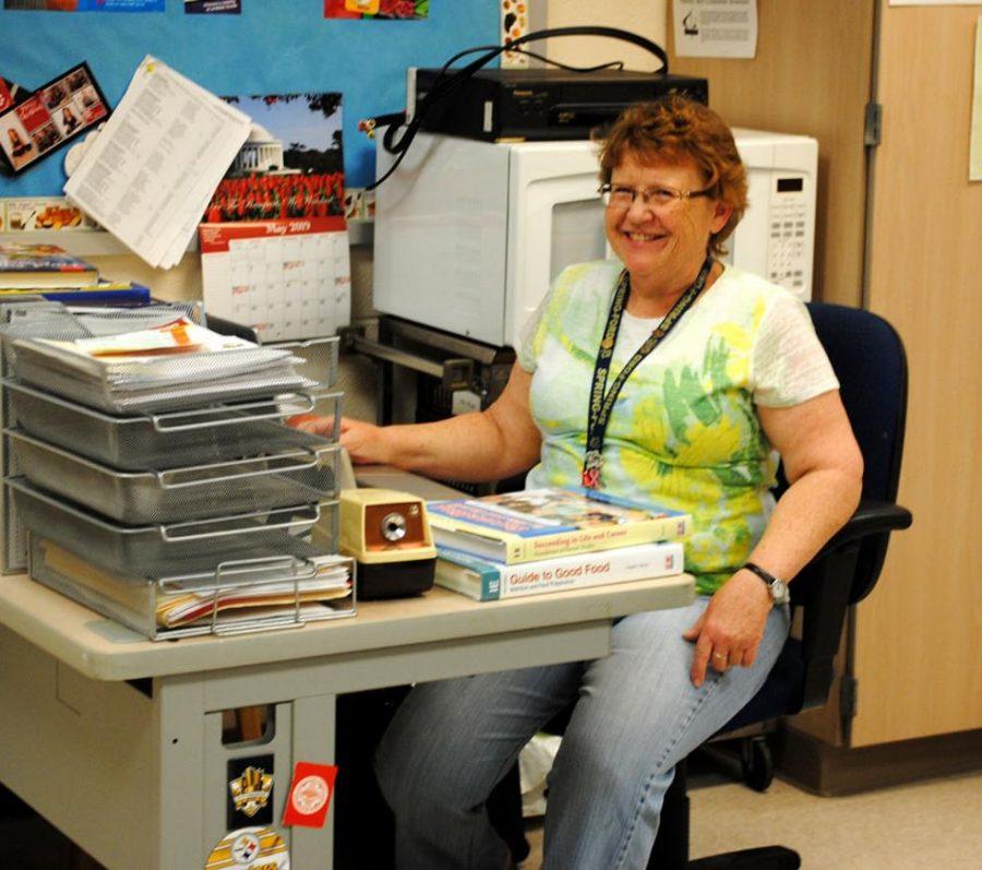 Teacher Diana Ward prepares for  class.