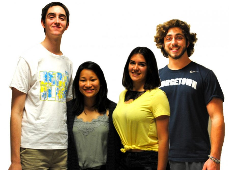 Rampage senior editors Brian Lynch (from left), Neha Chongtham, Sydnee Sherrick, and  Dean Costalas will continue pursuit of  their dreams next year in college.