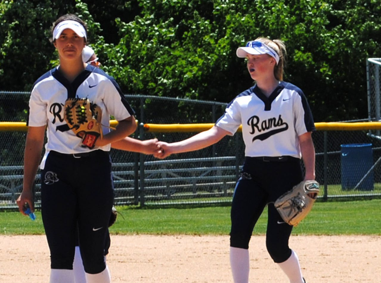 Sophomore Brianna Peck (left) won the 2018-19 Gatorade Pennsylvania Softball Player of the Year award, leading the Rams to the state semifinals. Junior Jules Ryan is pictured at right.