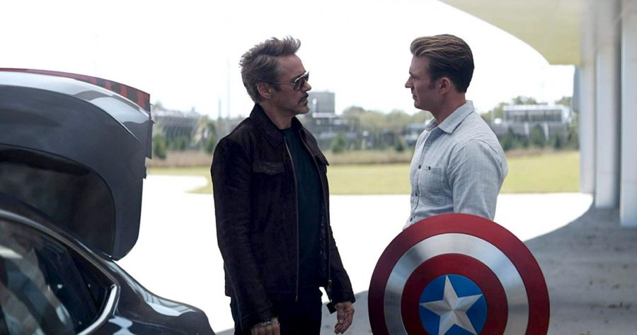 Robert+Downey+Jr.+as+Tony+Stark%2C+left%2C+greets+Chris+Evans+as+Captain+America+in+the+%E2%80%9CAvengers%3A+Endgame.%E2%80%9D+