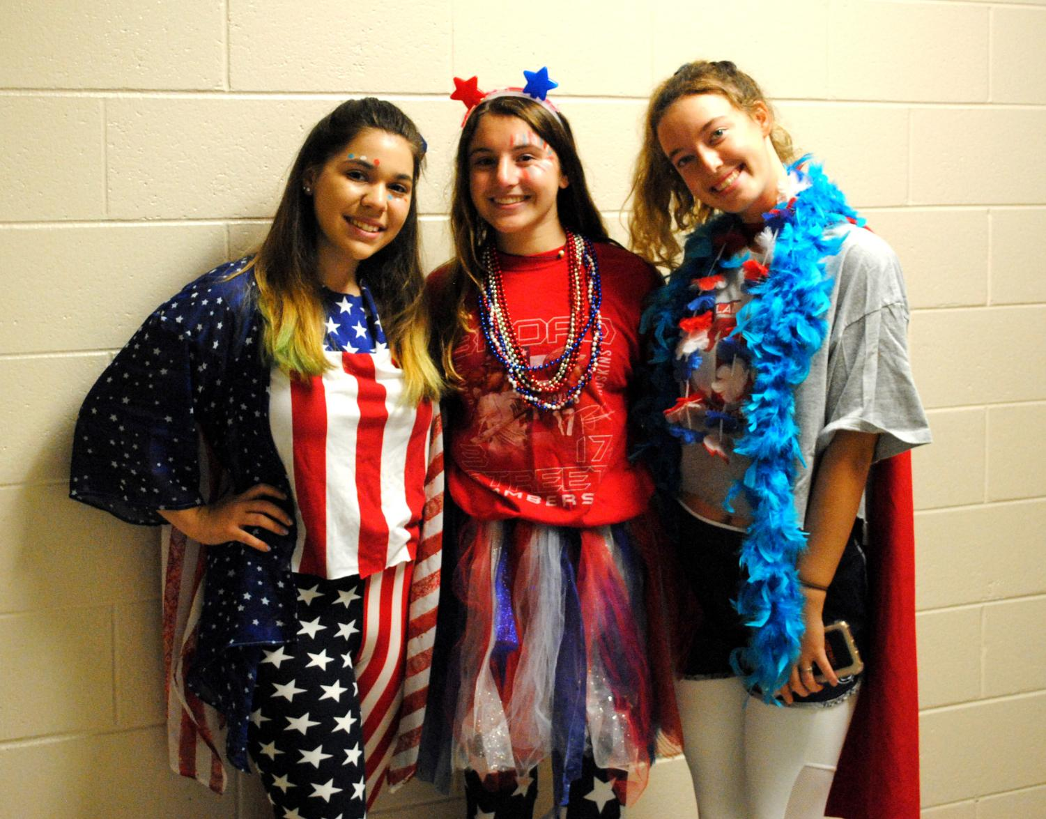 Spring-Ford students wore red, white, and blue during the annual kickoff to Spirit Week -- Team USA Day.