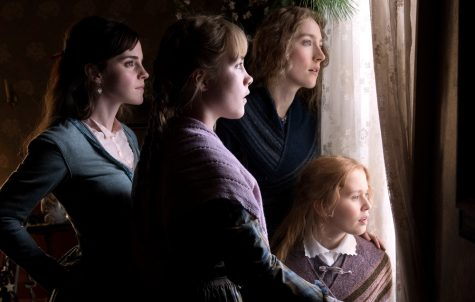 "Emma Watson (from left), Saoirse Ronan, Florence Pugh, and Eliza Scanlen star in ""Little Women."""