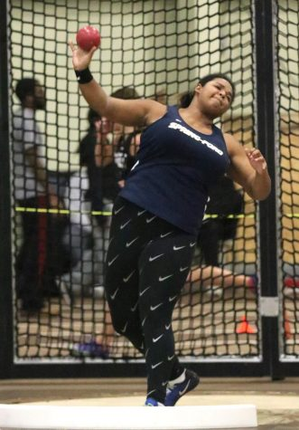 Junior Maura Baker finished ninth in the state at the shot put this winter track season as she threw a state qualifying time of 39 feet, 5 inches,