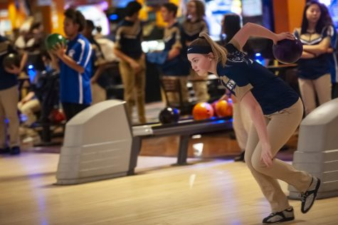 Senior Jules Ryan led the girls bowling team to new heights this winter.