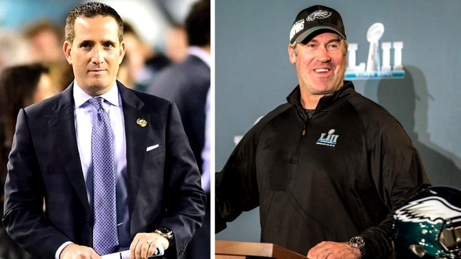 Eagles general manager Howie Roseman and head coach Doug Pederson will go into the 2020 season with a vastly different roster.