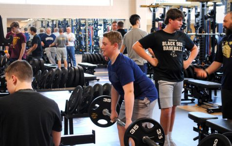 Students make use of the fitness center at Spring-Ford High School.
