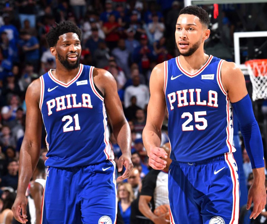 Sixers+players+Joel+Embiid+%28left%29+and+Ben+Simmons+are+expected+to+travel+to+Disney%E2%80%99s+ESPN+Wide+World+of+Sports+Complex+in+Orlando%2C+Fla.%2C+when+the+NBA+resumes+play+in+July.++The+plan+is+that+the+top+22+teams+will+play+games+in+Orlando+and+then+take+part+in+a+16-team+playoff.