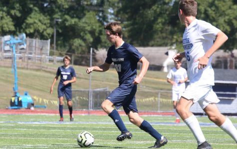 The Spring-Ford soccer team plays a game last September. Fall athletes are currently training remotely due to the coronavirus pandemic.
