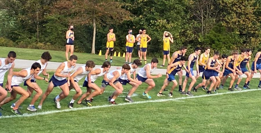The+Spring-Ford+boys+cross+country+team+competes+against+Upper+Perk+in+a+match+this+past+fall.+The+Rams+won+the+meet+and+eventually+the+Pioneer+Athletic+Conference.