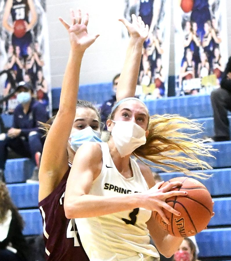 Senior Lucy Olsen scored 33 points in the Rams' victory over Plymouth-Whitemarsh on Friday in the District One 6A Championship Game.