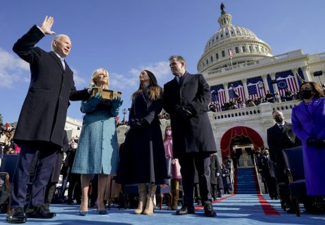 President Joe Biden takes the presidential oath of office on Jan. 20.