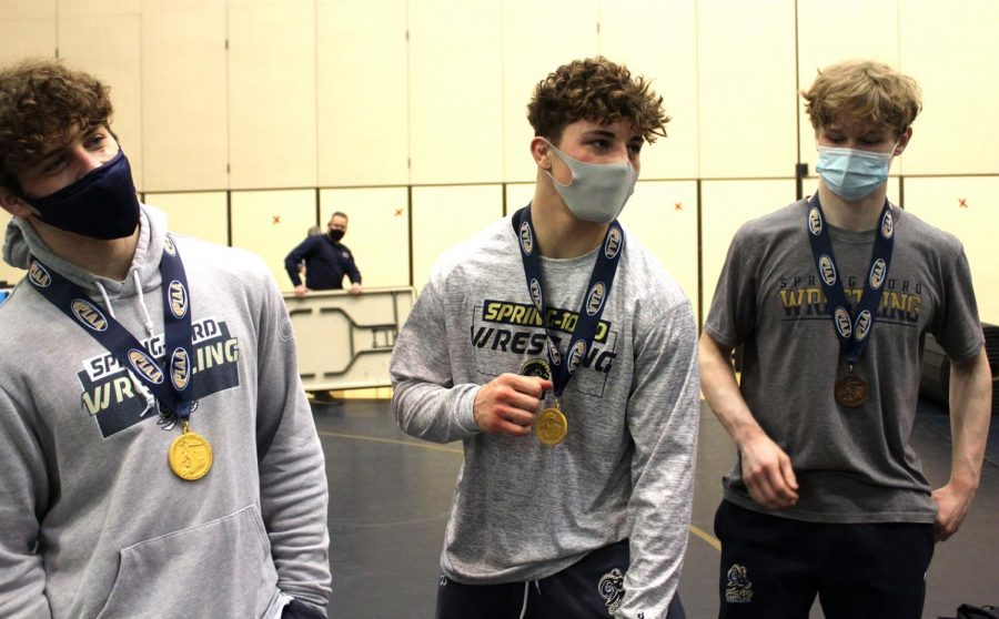 Spring-Ford seniors (from left) Jack McGill, Joey Milano, and Zach Needles will compete at next week's Class AAA East Super-Regional Tournament.