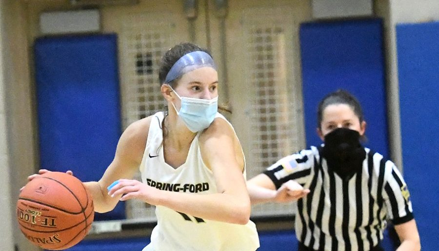 Spring-Ford's Emily Tiffan scored eight points in the Rams' win over Upper Dublin on Wednesday.