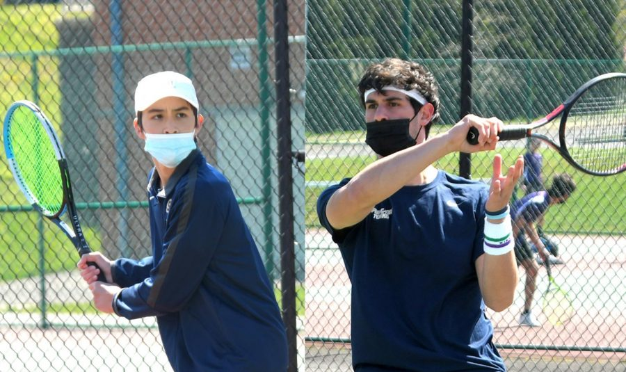 Spring-Ford+tennis+players+Cameron+Moore+%28left%29+and+Josh+Pergine+%28right%29+won+the+Pioneer+Athletic+Conference+Doubles+Championship+this+year.+